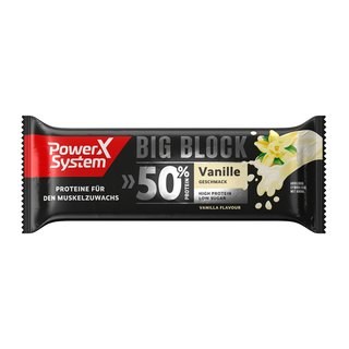 Power System 50% Protein Big Block (100g) | Vanille Einzelriegel